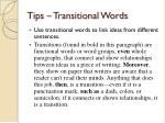 tips transitional words