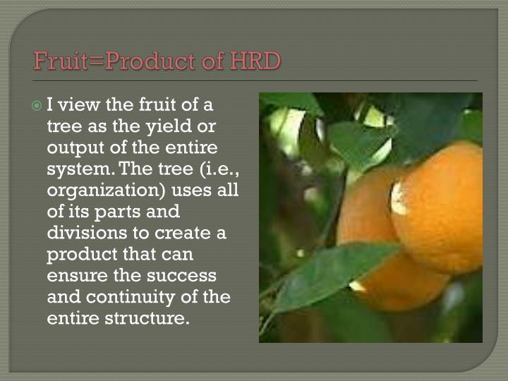 Fruit=Product of HRD