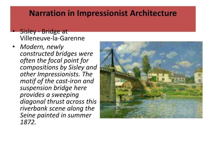 Narration in Impressionist Architecture