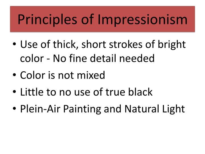 Principles of Impressionism