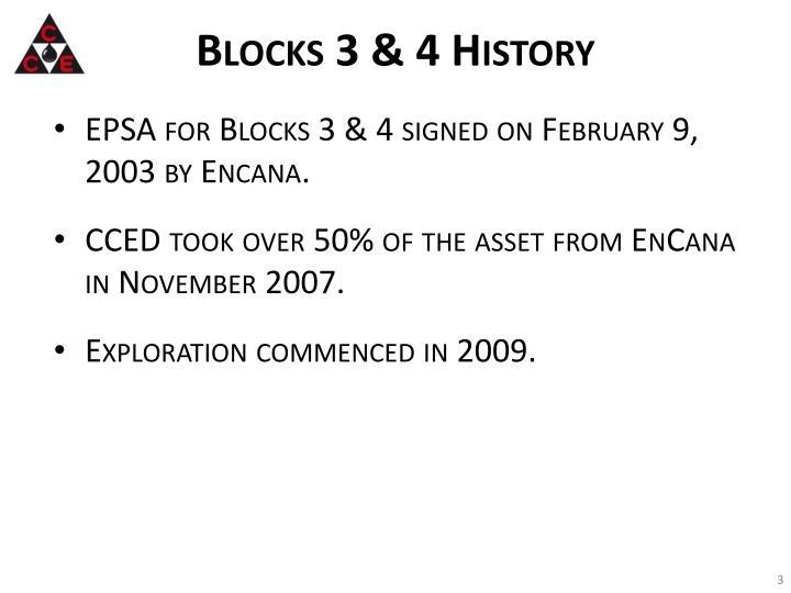 Blocks 3 & 4 History