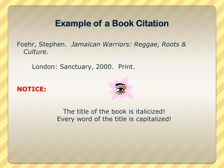 Example of a Book Citation