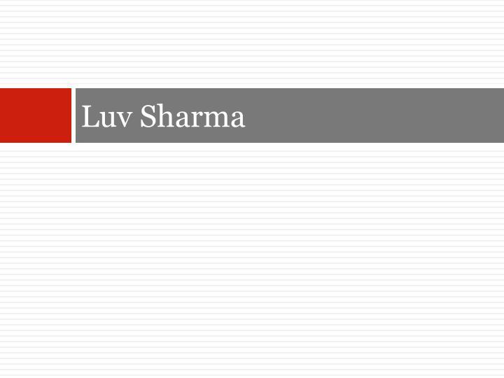 Luv Sharma