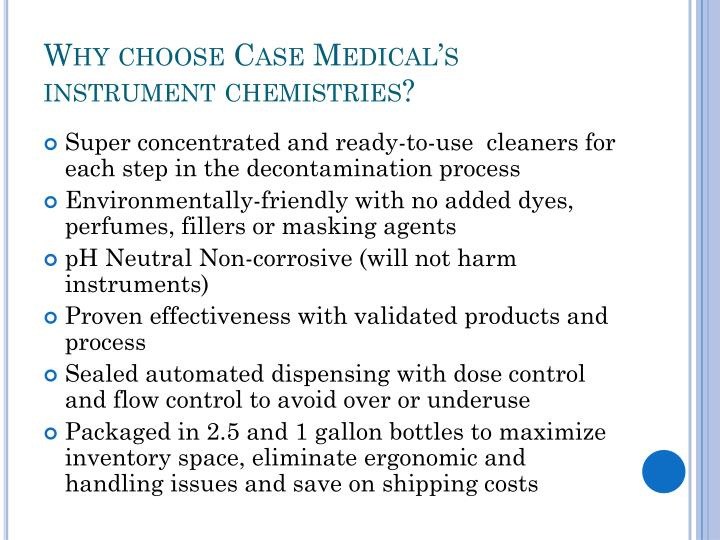 Why choose case medical s instrument chemistries