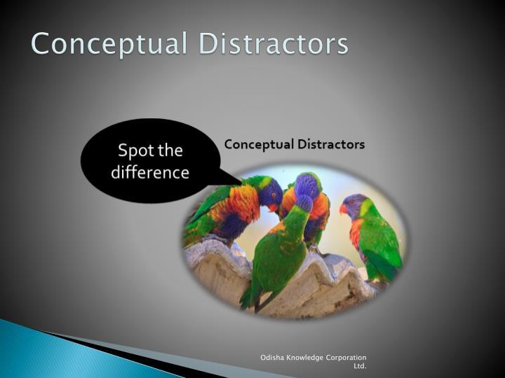 Conceptual Distractors