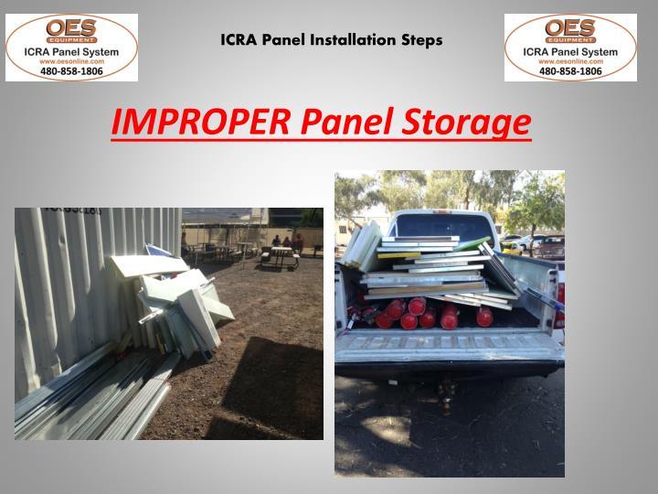 IMPROPER Panel Storage