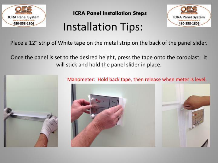 Installation Tips: