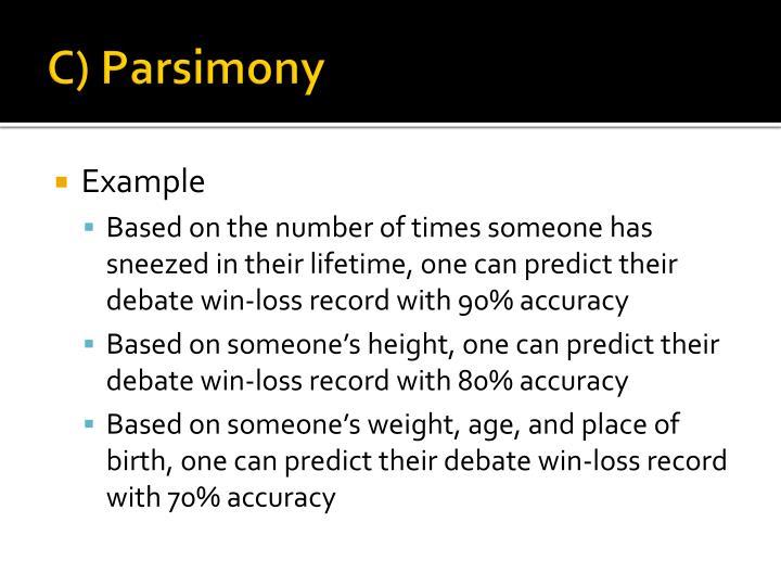 C) Parsimony