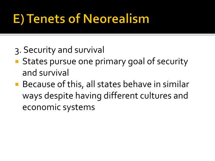 E) Tenets of