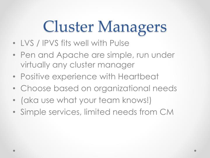 Cluster Managers