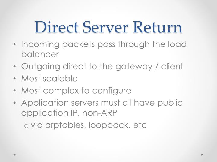 Direct Server Return