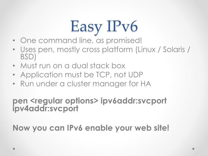 Easy IPv6