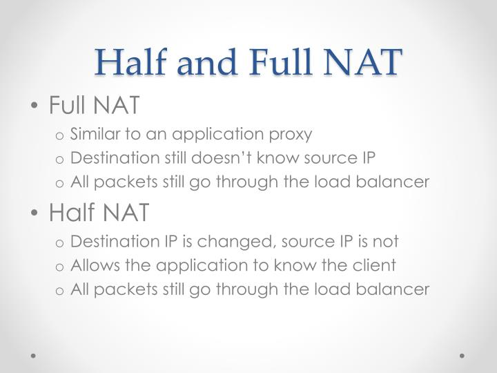 Half and Full NAT