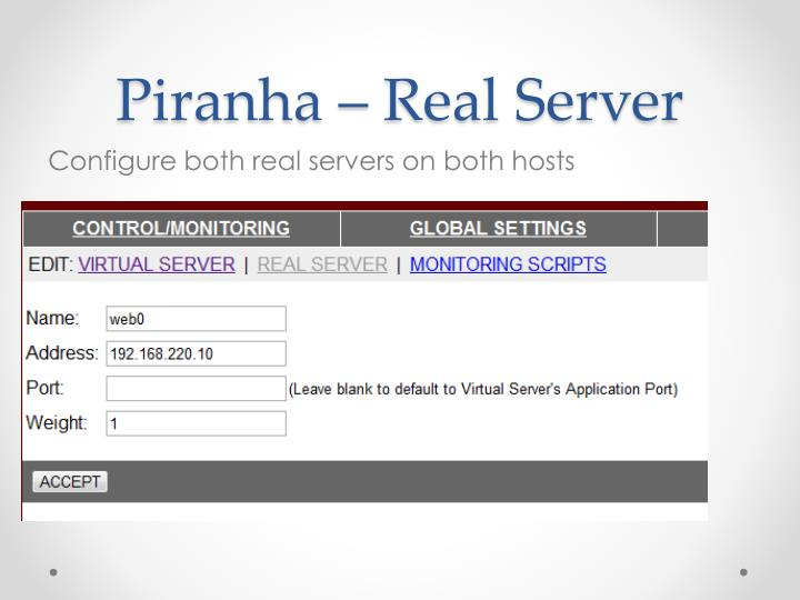 Piranha – Real Server
