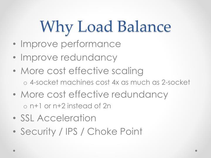 Why Load Balance