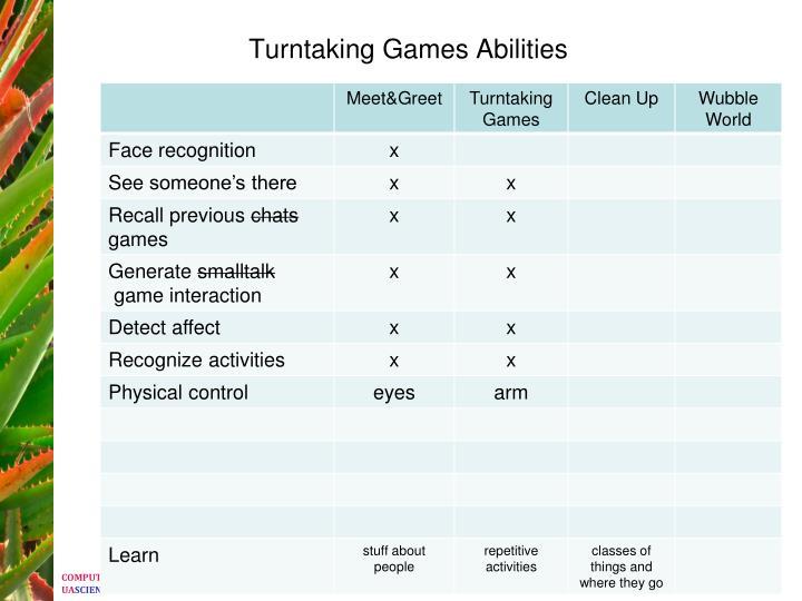 Turntaking Games Abilities