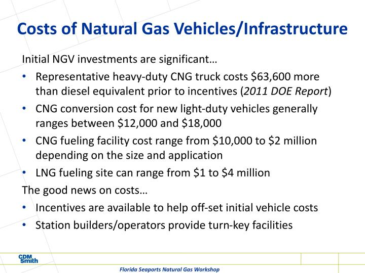 Costs of Natural Gas Vehicles/Infrastructure