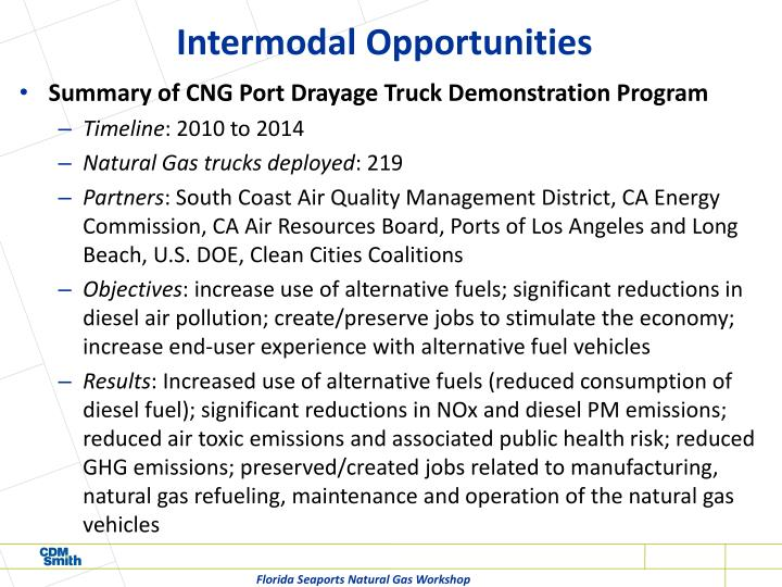Intermodal Opportunities
