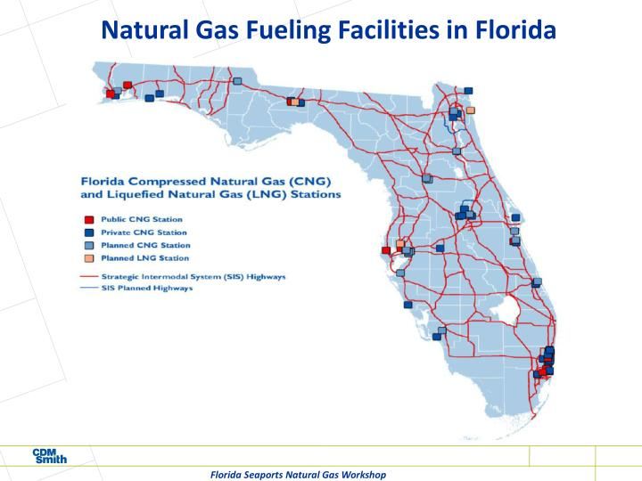 Natural Gas Fueling Facilities in Florida