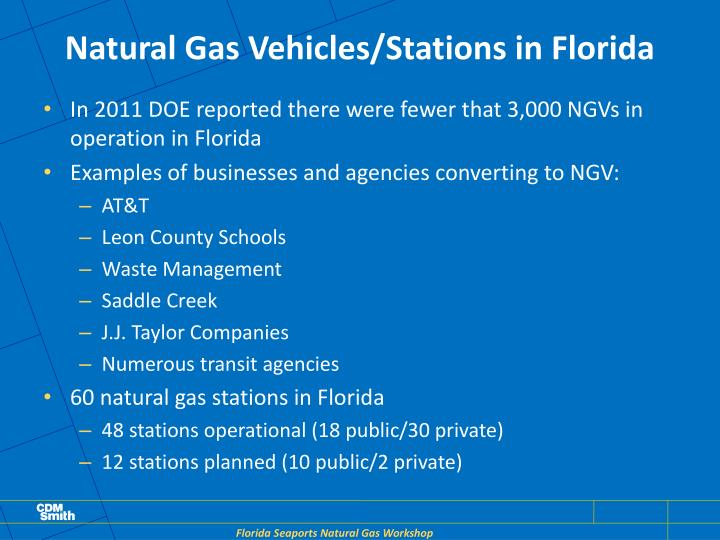 Natural Gas Vehicles/Stations in Florida