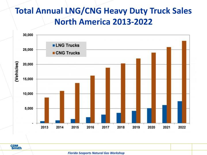 Total Annual LNG/CNG Heavy Duty Truck Sales