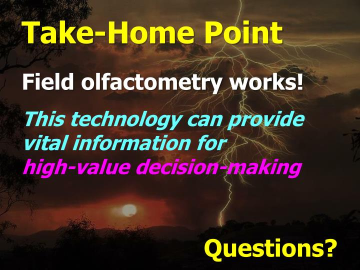 Take-Home Point