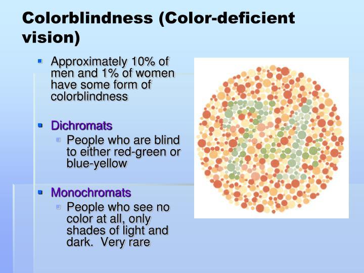 Colorblindness (Color-deficient vision)