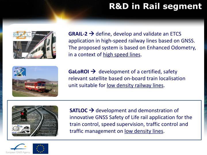 R&D in Rail segment