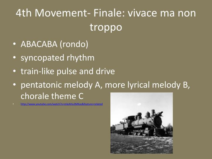 4th Movement- Finale: