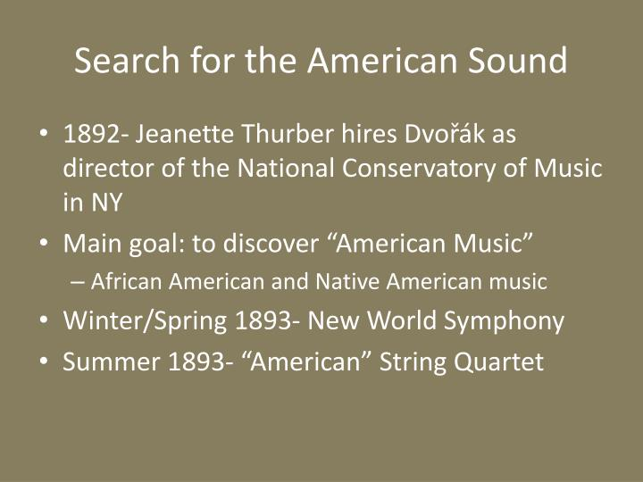 Search for the American Sound