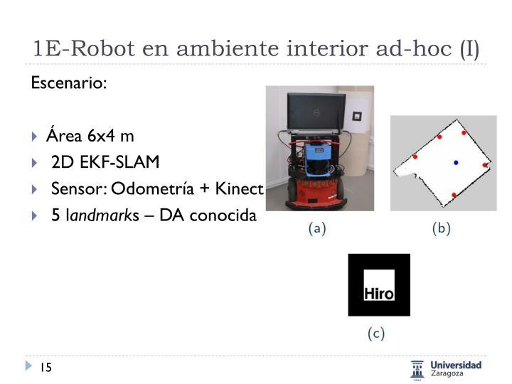 1E-Robot en ambiente interior