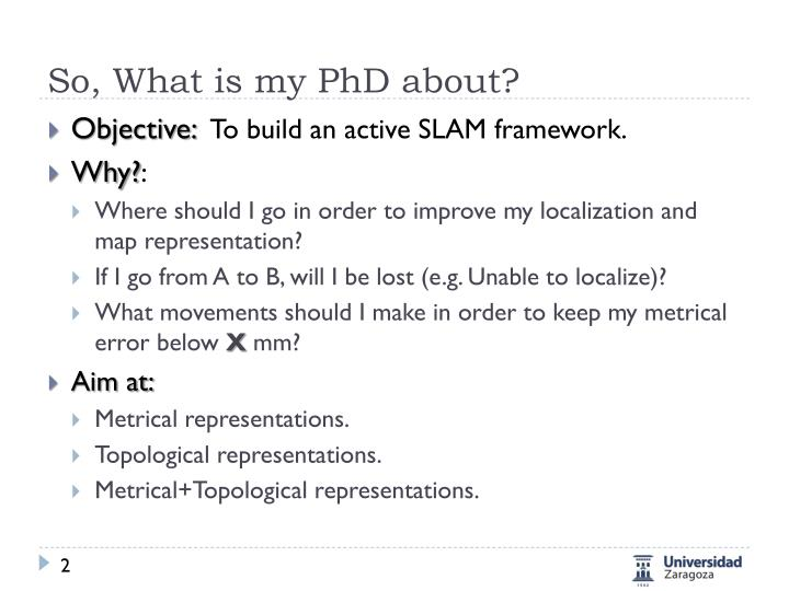 So what is my phd about