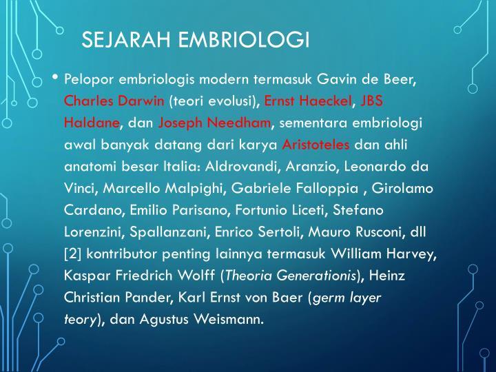 SEJARAH EMBRIOLOGI