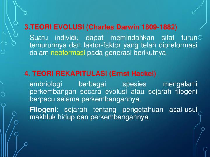 3.TEORI EVOLUSI (Charles Darwin 1809-1882)