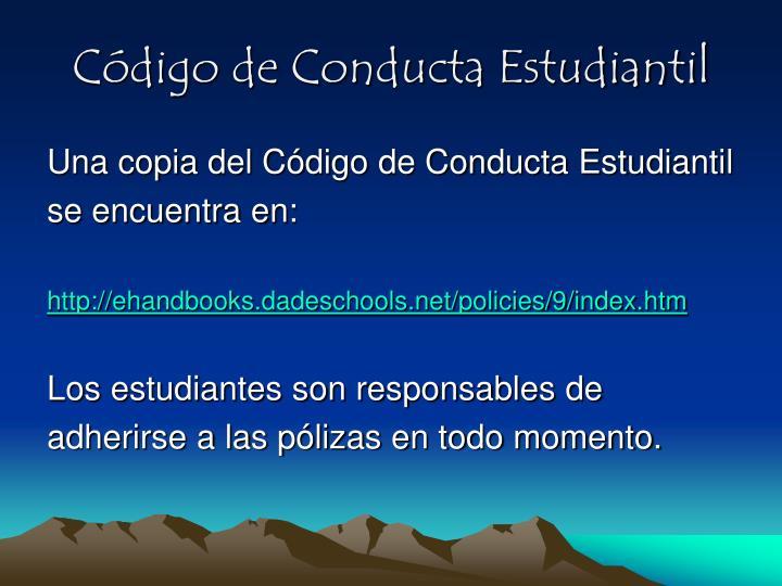 Código de Conducta Estudiantil