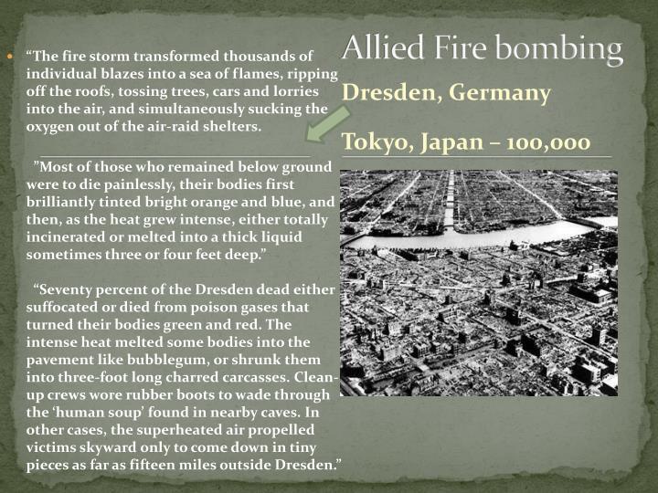 Allied Fire bombing