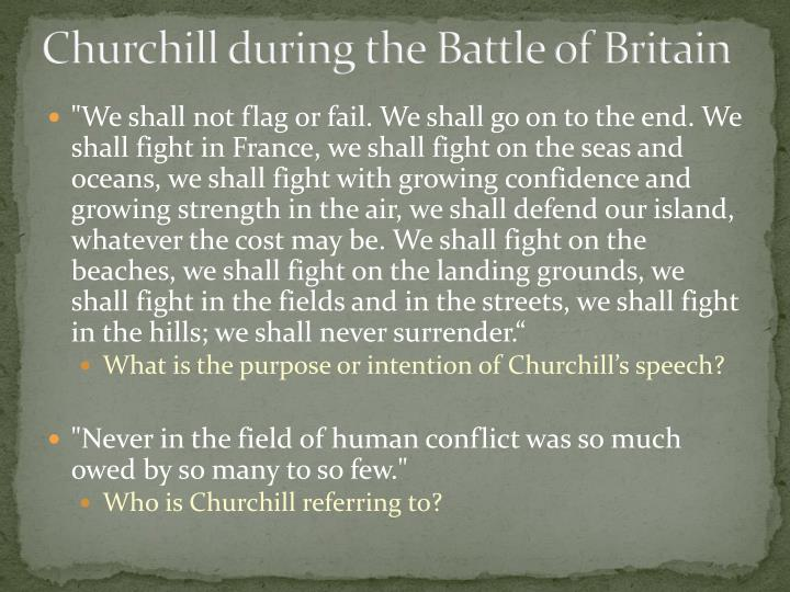 Churchill during the Battle of Britain