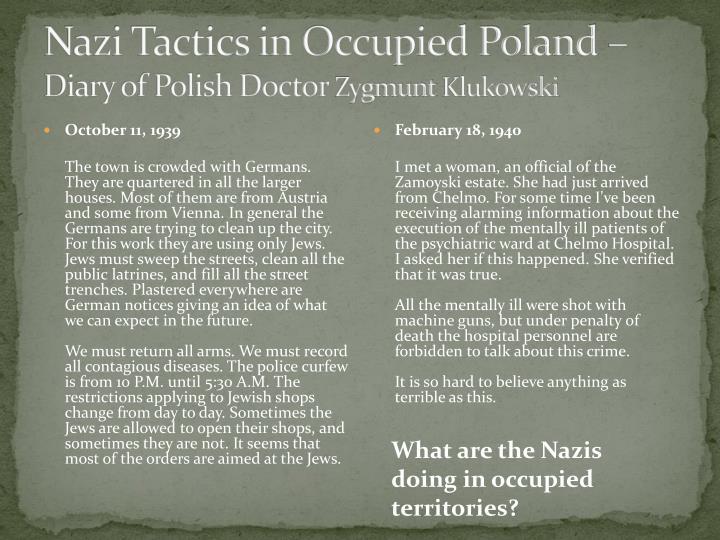 Nazi Tactics in Occupied Poland –