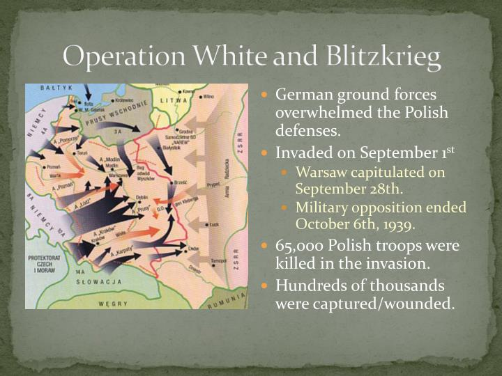 Operation White and Blitzkrieg
