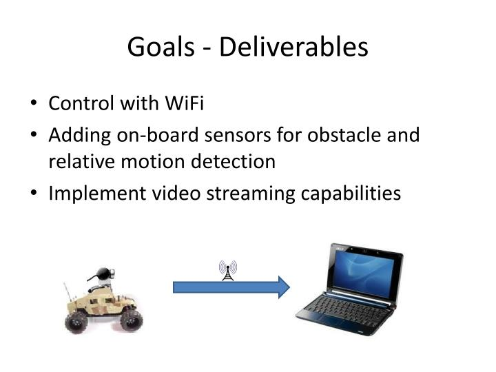 Goals - Deliverables