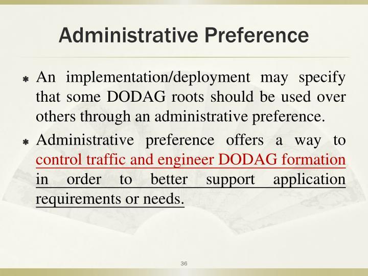 Administrative Preference