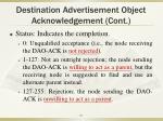 destination advertisement object acknowledgement cont2