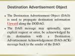destination advertisement object