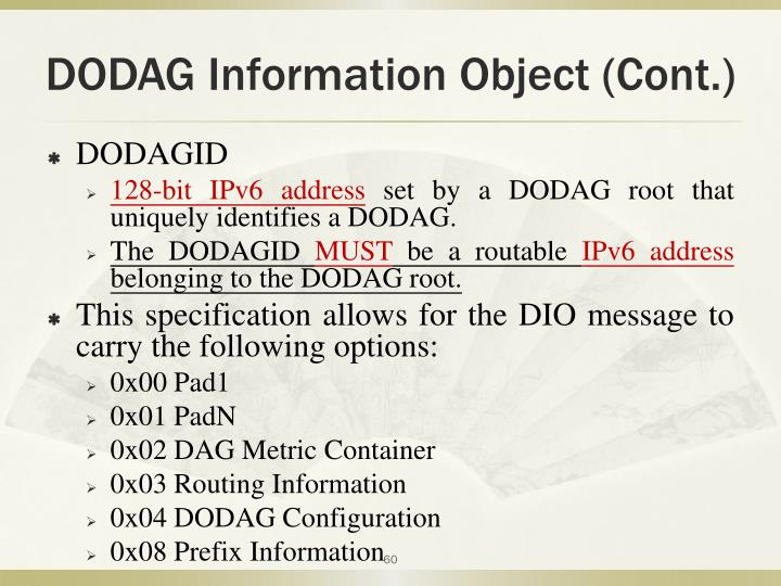 DODAG Information Object (Cont.)