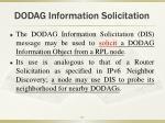 dodag information solicitation
