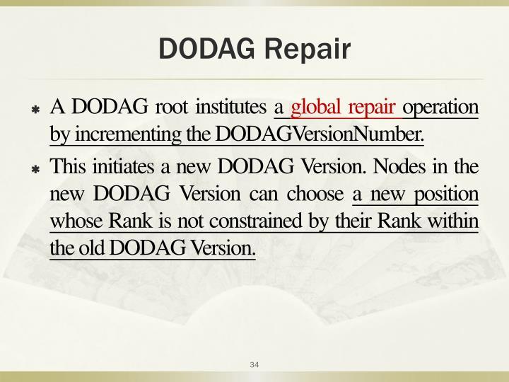 DODAG Repair