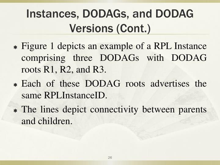 Instances, DODAGs, and DODAG