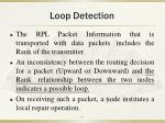 loop detection
