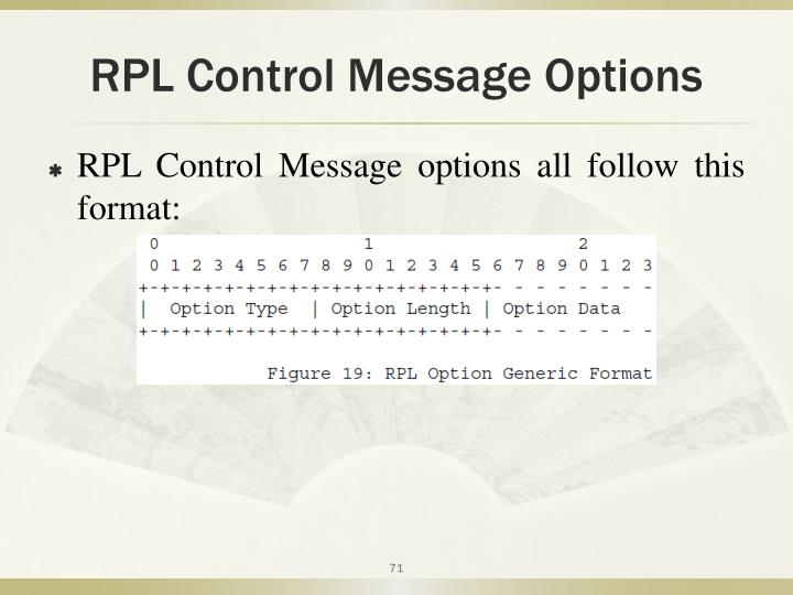 RPL Control Message Options