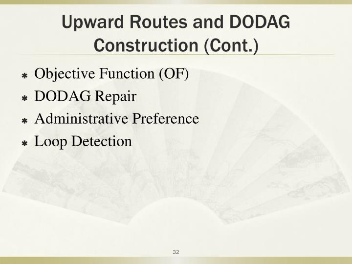 Upward Routes and DODAG